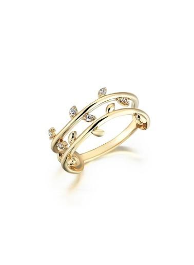 Piano Jewellery Cabaret Sarmaşık Altın Yüzük 14 Ayar Altın